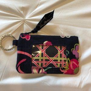 "Vera Bradley zip id case in the pattern ""Ribbons"""
